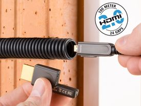 High Speed HDMI-Micro 2.0b Optical Fiber Cable | Up to 100m